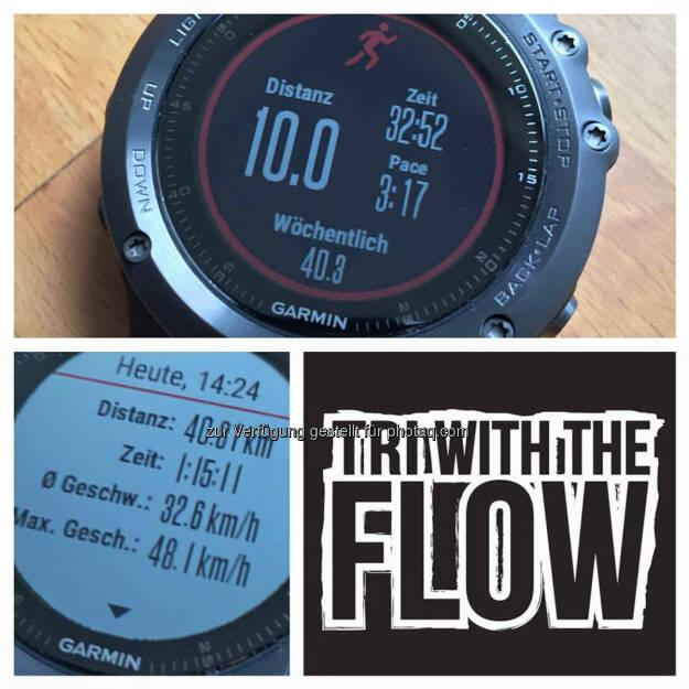 Garmin, Laufuhr, Run with the Flow, © Florian Neuschwander (25.05.2016)