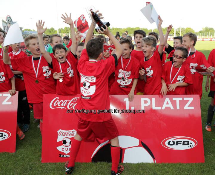 U12 von FC Admira Wacker Mödling gewinnt erneut Coca-Cola CUP in Niederösterreich : Fotocredit Coca-Cola/GEPA