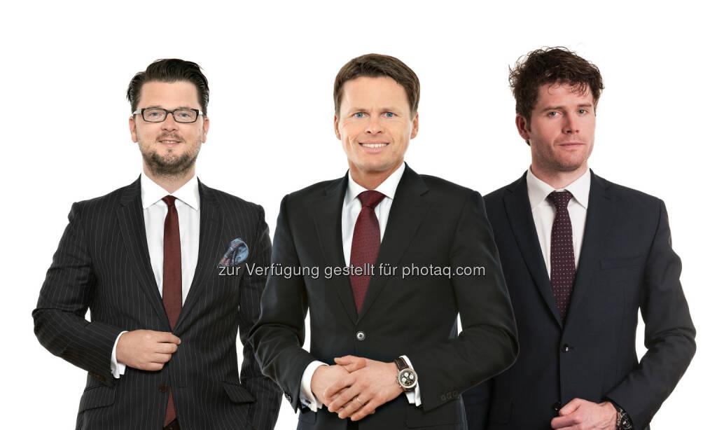Thomas Kulnigg (Partner), Sascha Hödl (Partner), Vladimir Cizek (Partner) : Schönherr berät Groupe SEB beim Erwerb der WMF Gruppe von KKR : Fotocredit: Schönherr, © Aussendung (27.05.2016)