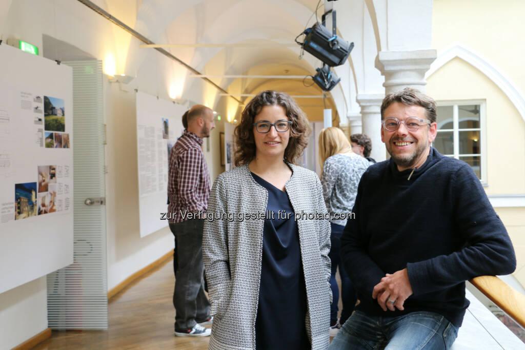 Elisabeth Leitner, Alexander Hagner : Neue Leitung am Studiengang Architektur der FH Kärnten : Fotocredit: FH Kärnten, © Aussendung (30.05.2016)