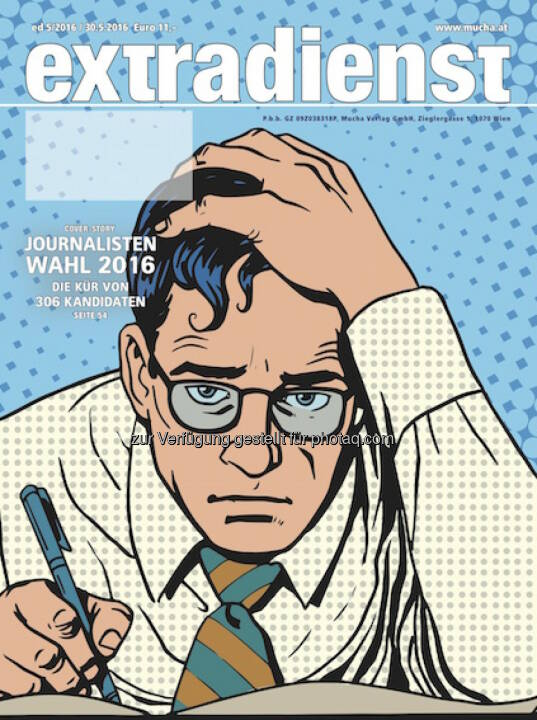Coverillustration zu ExtraDienst 5/2016 : Journalistenwahl 2016 : Fotocredit: Mucha Verlag/Fotolia/Steinmetz