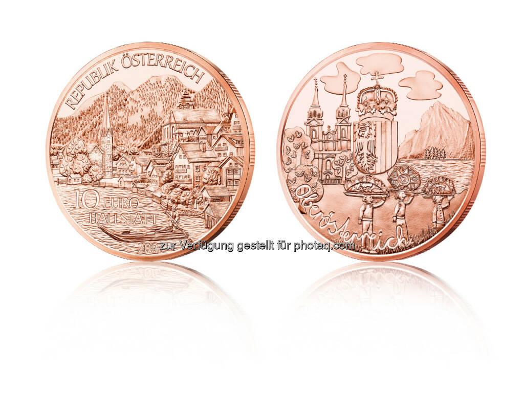 Oberösterreich Münze in Kupfer : Die erste Münze für Oberösterreich mit Eigenheiten und Sehenswürdigkeiten : Fotocredit: Münze Österrreich AG/Stelzhammer, © Aussender (30.05.2016)