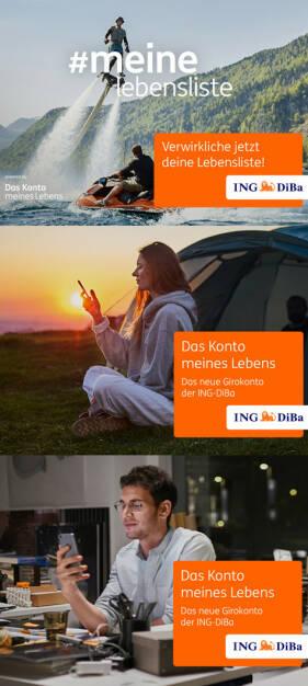 Sujets: Lebensliste, Frau, Mann : ING-DiBa startet Giro-Vermarktung : Fotocredit: ING-DiBa Direktbank Austria/ VIRTUE Austria/Christoph Spranger, © Aussender (31.05.2016)