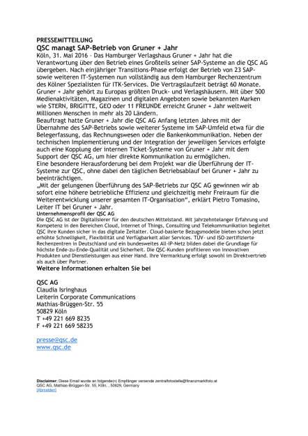 QSC managt SAP-Betrieb von Gruner + Jahr, Seite 1/1, komplettes Dokument unter http://boerse-social.com/static/uploads/file_1144_qsc_managt_sap-betrieb_von_gruner_jahr.pdf (31.05.2016)