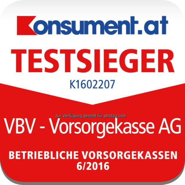 "VBV – Vorsorgekasse ist Testsieger im ""Konsument""-Ranking : Fotocredit: Konszument.at//VBV, © Aussendung (01.06.2016)"