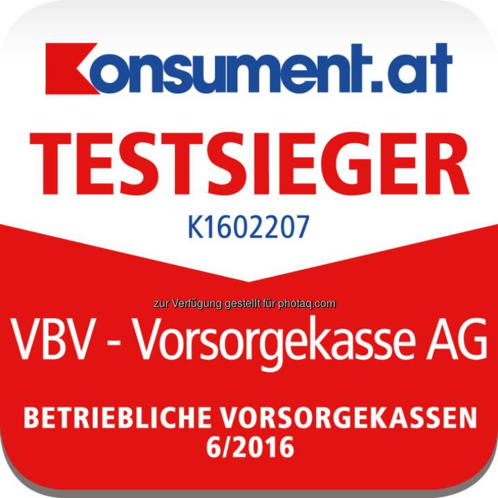 "VBV – Vorsorgekasse ist Testsieger im ""Konsument""-Ranking : Fotocredit: Konszument.at//VBV"