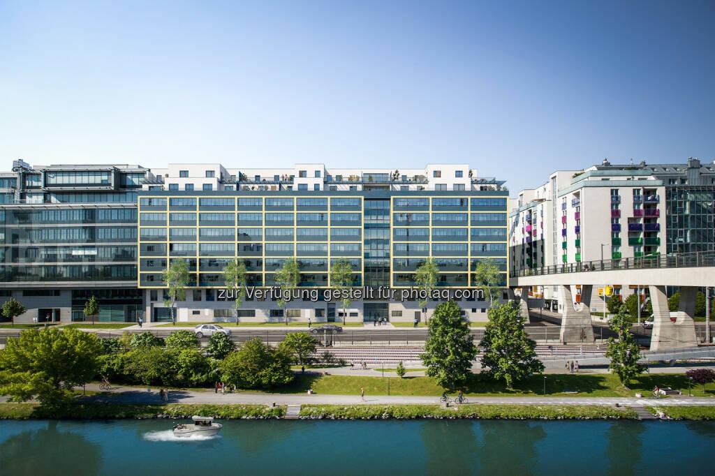 """Außenansicht Handelskai 132a : Immobilien Funk : Verwertungsstart Neubauprojekt """"Home 2"""" Handelskai : Fotocredit: Zoom visual project gmbh, © Aussendung (01.06.2016)"""