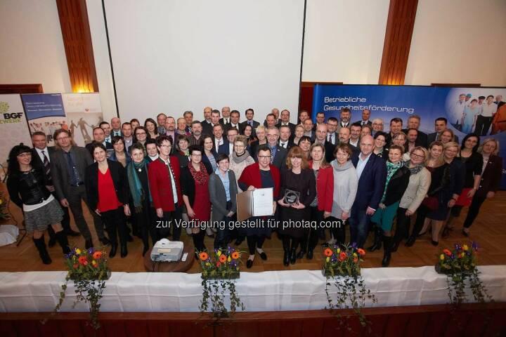 Gütesiegelverleihung Betriebliche Gesundheitsförderung in der Niederösterreichischen Gebietskrankenkasse, ©Niederösterreichische Gebietskrankenkasse/APA-Fotoservice/Preiss