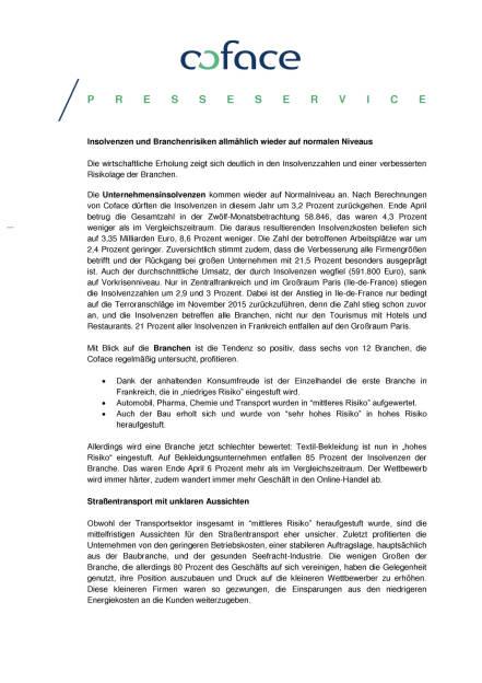 Coface: Startet Frankreich durch?, Seite 2/3, komplettes Dokument unter http://boerse-social.com/static/uploads/file_1160_coface_startet_frankreich_durch.pdf (02.06.2016)