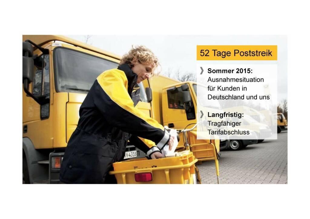 Deutsche Post - 52 Tage Poststreik (02.06.2016)