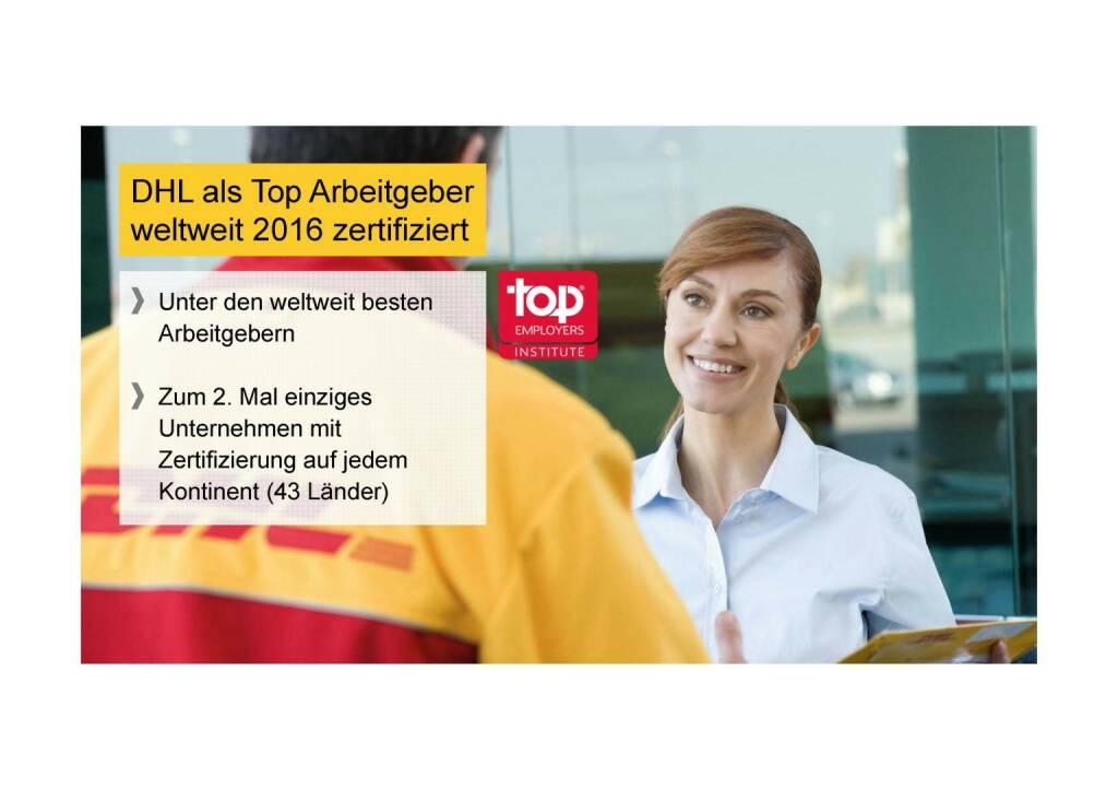 Deutsche Post - DHL als Top Arbeitgeber (02.06.2016)
