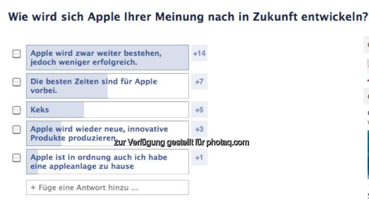 Wie wird sich Apple entwickeln? Das fragt direktanlage.at via Facebook  https://www.facebook.com/direktanlage.at