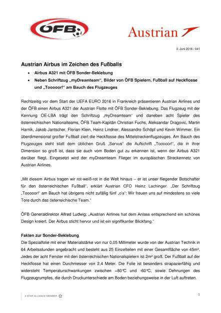 Austrian Airbus im Zeichen des Fußballs, Seite 1/2, komplettes Dokument unter http://boerse-social.com/static/uploads/file_1166_austrian_airbus_im_zeichen_des_fussballs.pdf (03.06.2016)