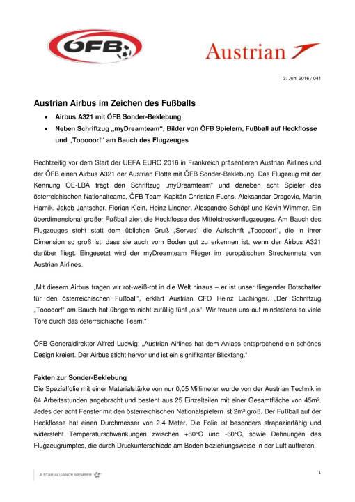 Austrian Airbus im Zeichen des Fußballs, Seite 1/2, komplettes Dokument unter http://boerse-social.com/static/uploads/file_1166_austrian_airbus_im_zeichen_des_fussballs.pdf