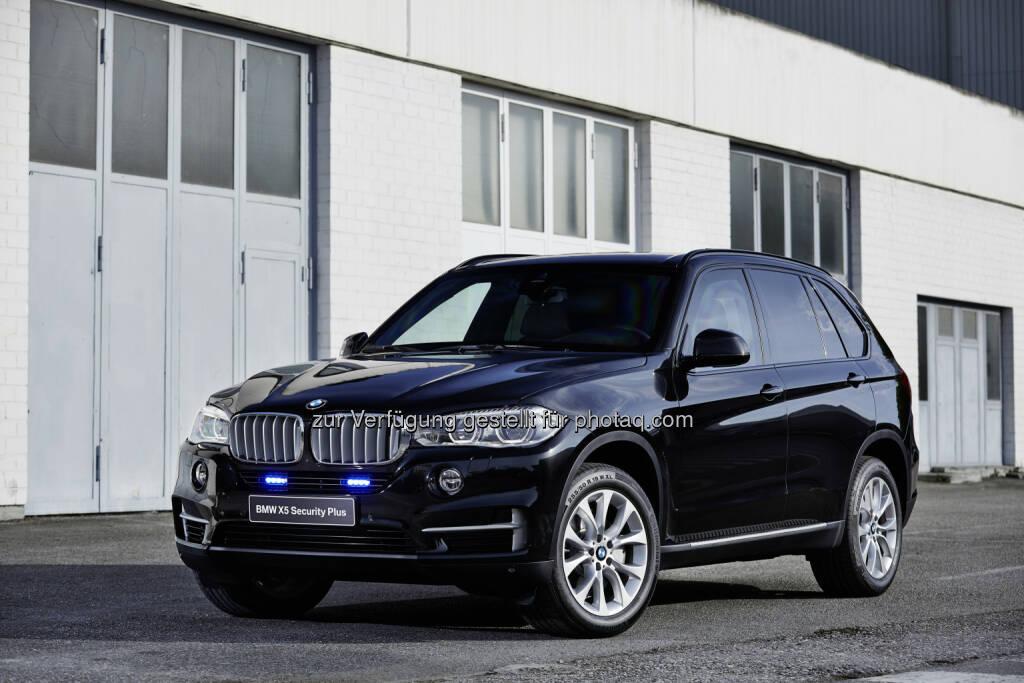 BMW X5 xDrive50i Security Plus : BMW auf der GPEC 2016 : Partner im Polizei- und Sicherheitsdienst : ©BMW Group, © Aussendung (03.06.2016)
