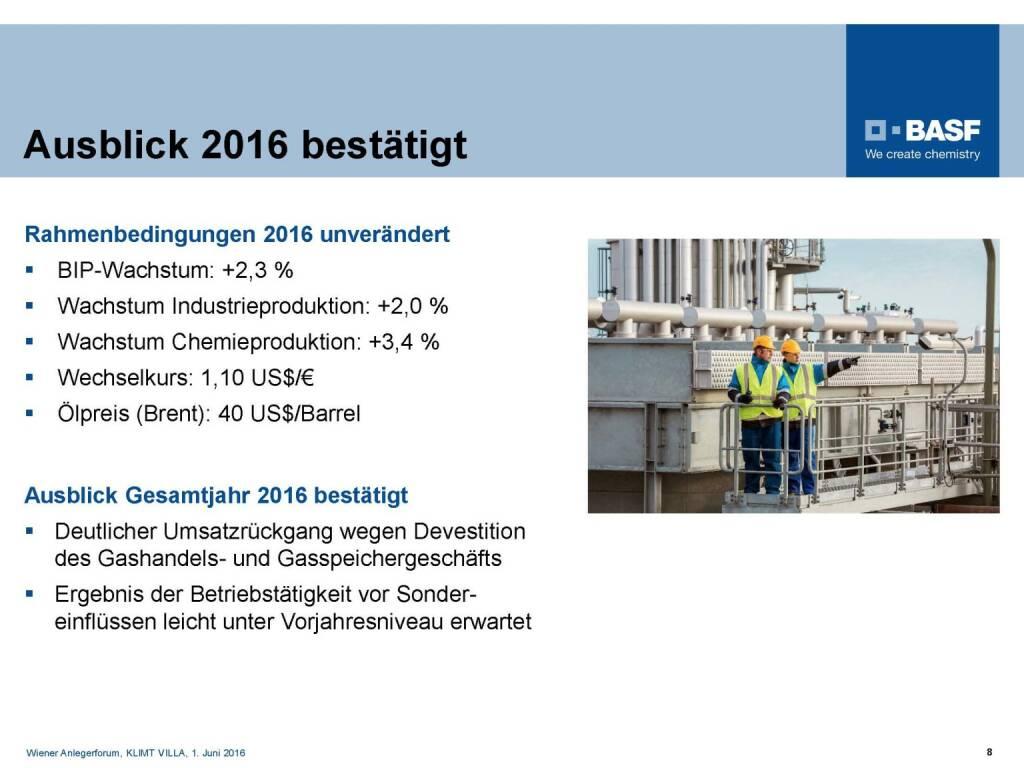 BASF - Ausblick 2016 bestätigt (06.06.2016)