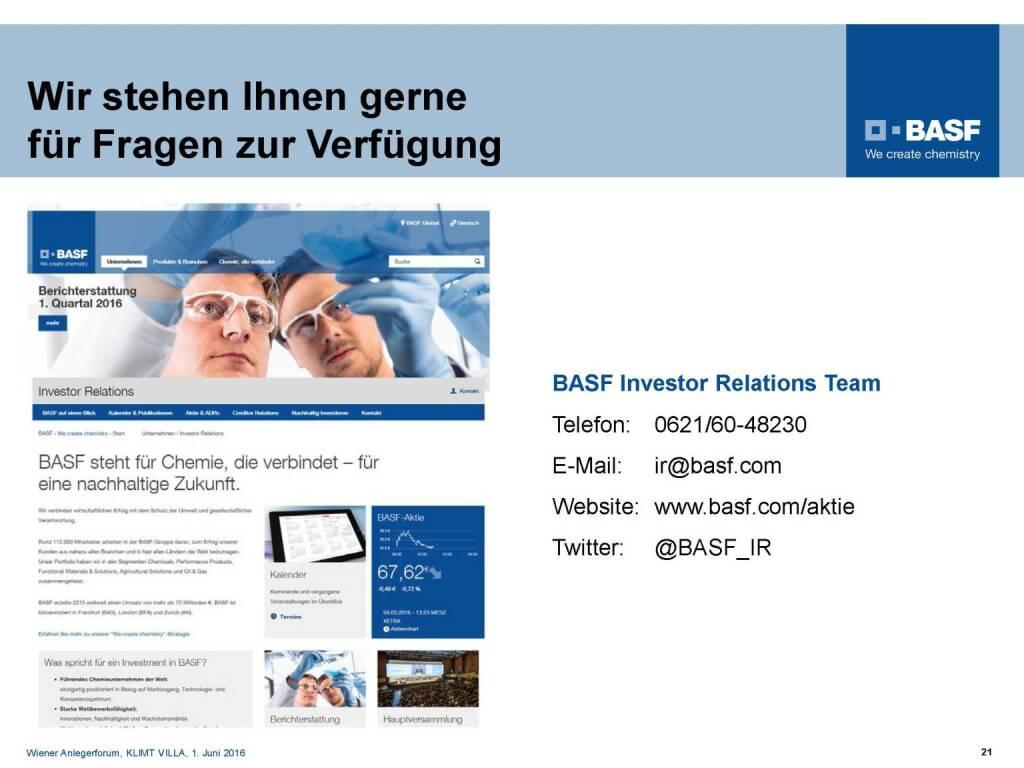 BASF - Wir stehen Ihnen gerne für Fragen zur Verfügung (06.06.2016)
