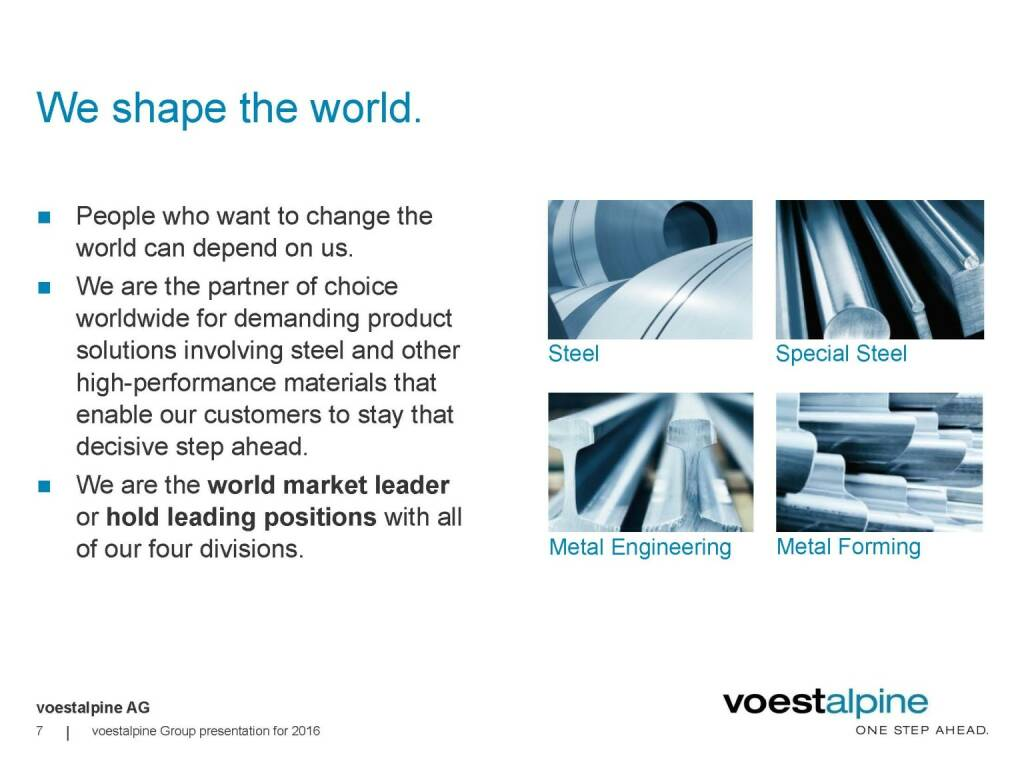 voestalpine - We shape the world (06.06.2016)