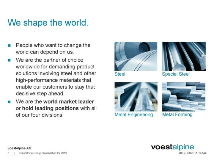 voestalpine - We shape the world