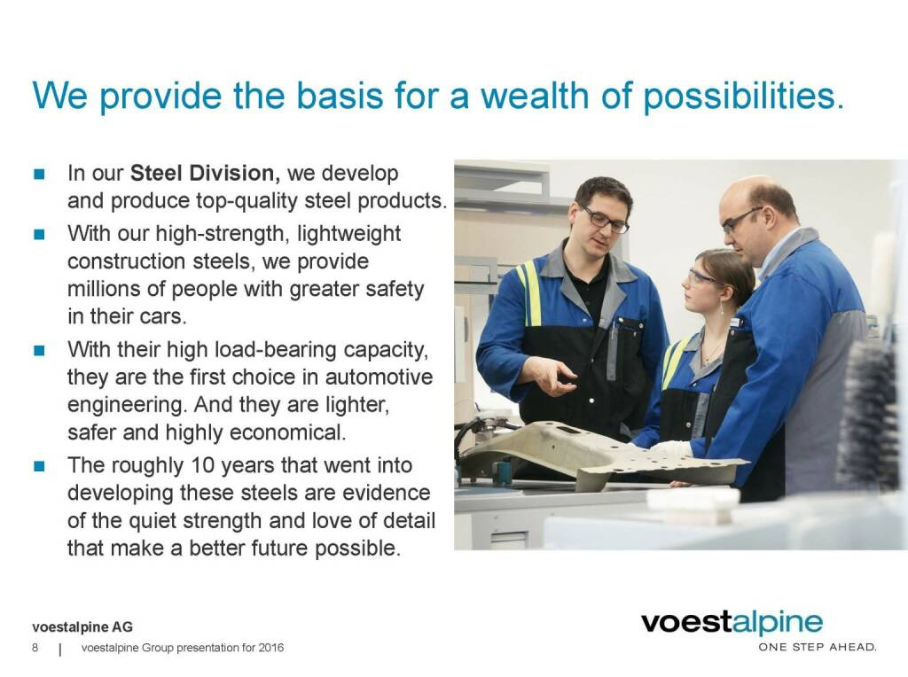 voestalpine - We provide the basis for a wealth of possibilities (06.06.2016)
