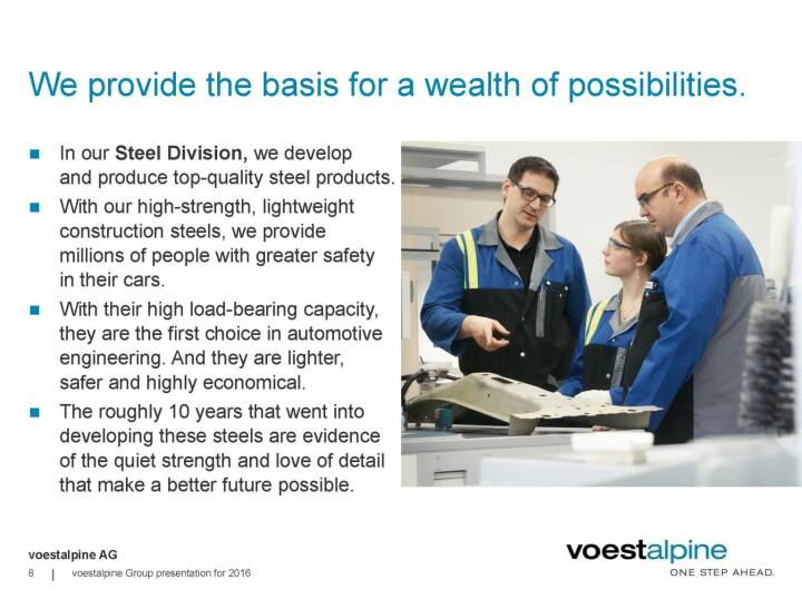 voestalpine - We provide the basis for a wealth of possibilities