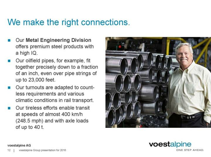 voestalpine - We make the right connections