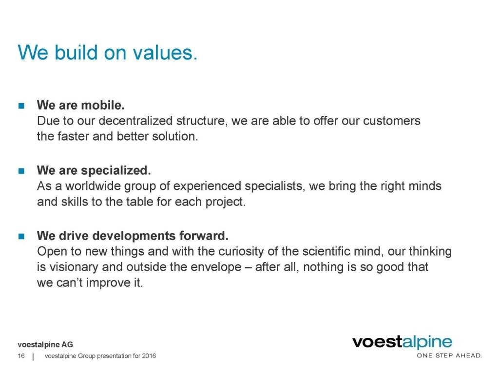 voestalpine - We buidl on values (06.06.2016)