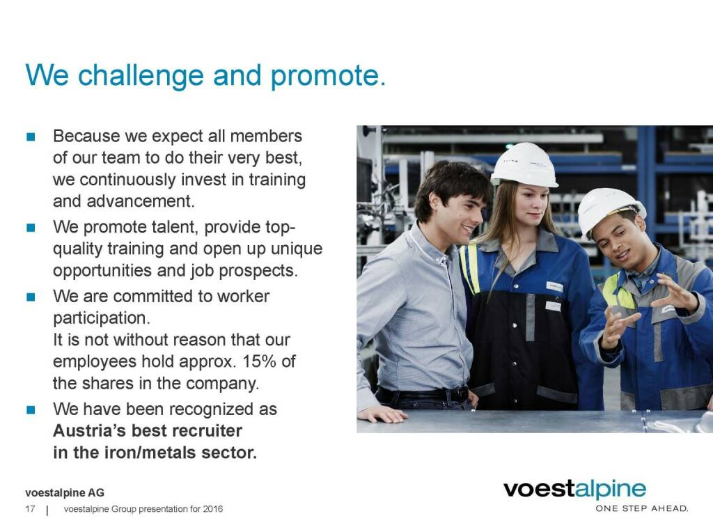 voestalpine - We challenge and promote (06.06.2016)