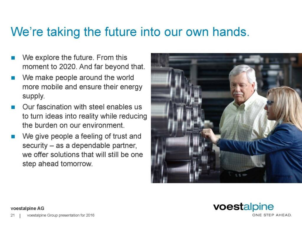 voestalpine - We're taking the future into our hands (06.06.2016)