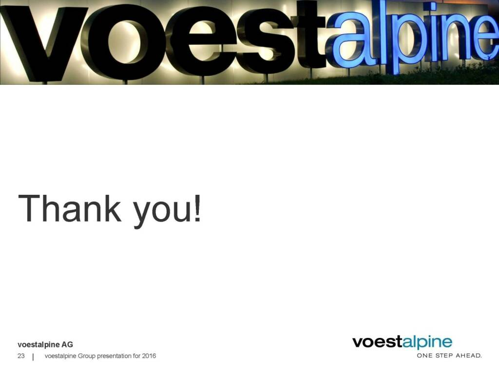 voestalpine - Thank you (06.06.2016)
