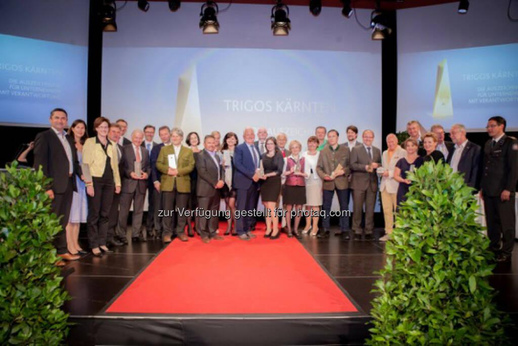 Gewinner des Trigos Kärnten (C) BKS Bank, © Aussendung (07.06.2016)
