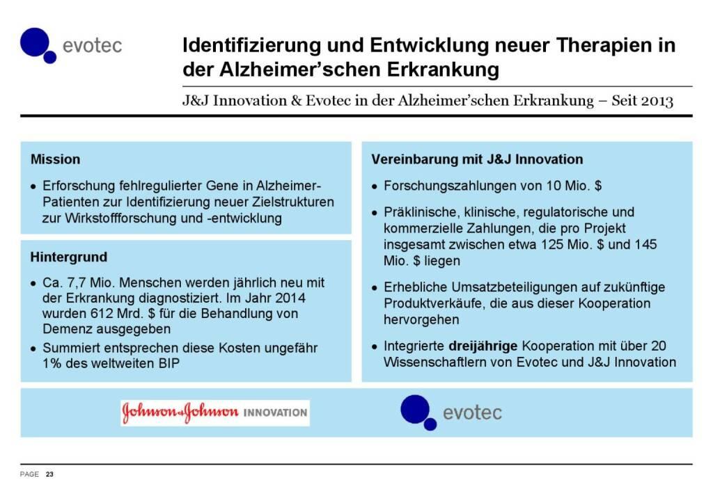 Evotec - Therapien Alzheimer'sche Erkrankung (07.06.2016)