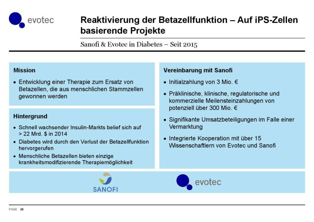 Evotec - Reaktivierung der Betazellfunktion (07.06.2016)