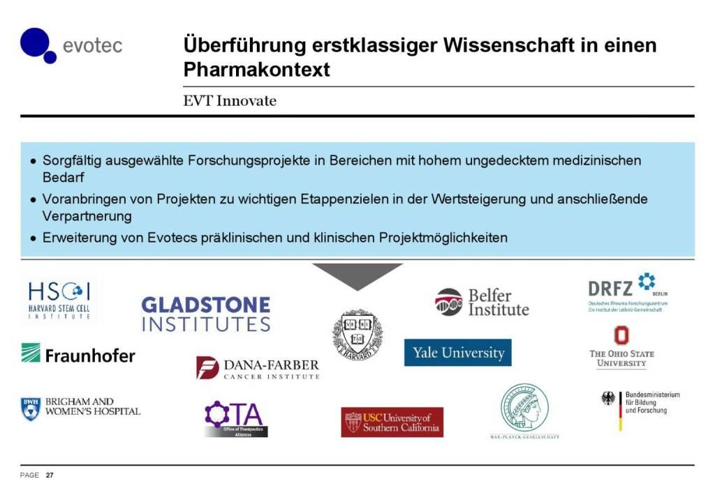 Evotec - Überführung Wissenschaft in Pharmakontexkt (07.06.2016)
