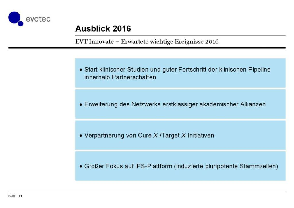 Evotec - Ausblick 2016 (07.06.2016)