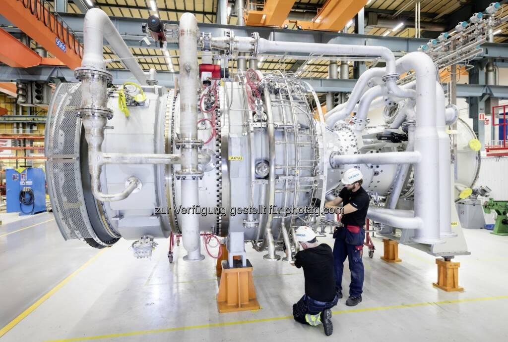 Siemens SGT-800 für Israel - Gasturbinenwerk in Finspong, Schweden : Siemens erhält Aufträge für zwei schlüsselfertige Industriekraftwerke in Israel : Fotocredit: Siemens AG, © Aussendung (08.06.2016)