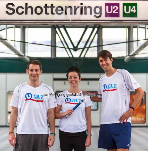 Simon Horowitz (Initiater des Teach for Austria URun), Kim Dusch, Matthias Stiedl (08.06.2016)