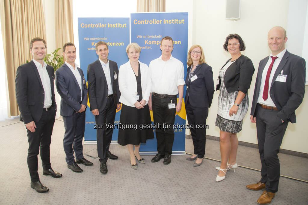 Clemens Nachbauer, Christian Vetter, Stefan Holly, Silke Wickel-Kirsch, Johannes Gärtner, Imke Libuda, Nicole Seidl, Carsten Bertling : HR-Controlling-Circle am 8. Juni 2016 : Status quo im Personalcontrolling : Fotocredit: Controller Institut/APA-Fotoservice/Reither, © Aussender (09.06.2016)