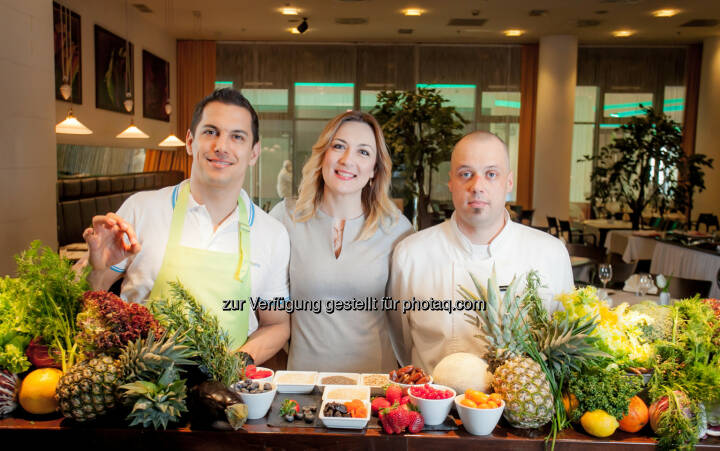 Mario Valentic (Coach), Ljiljana Mikic (General Manager Arcotel Allegra), Ivan Simoncic (Chefkoch) : Arcotel Allegra Zagreb setzt Fokus auf Healthy Lifestyle : Fotocredit: Arcotel Hotels