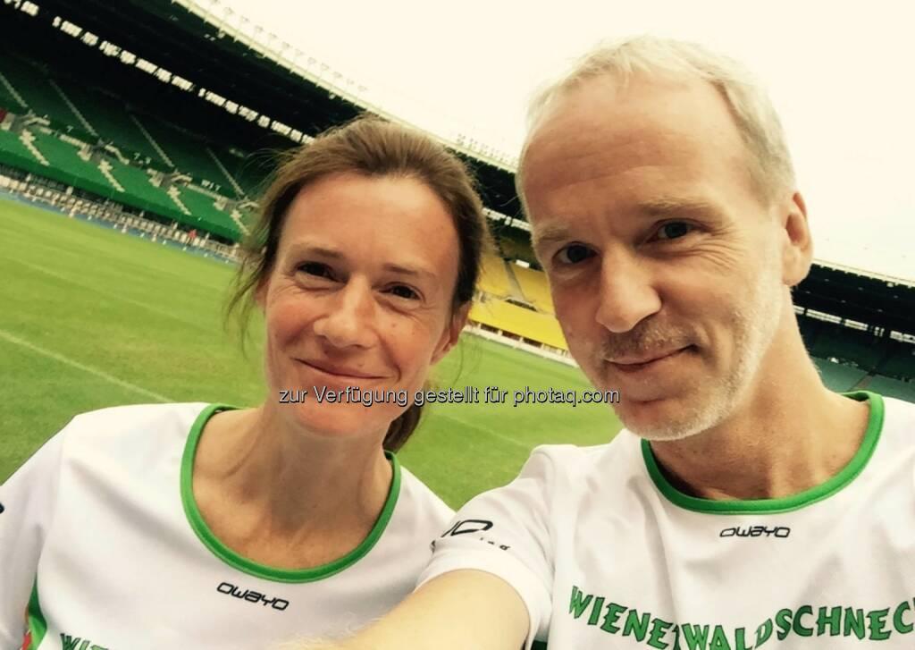 mit Christian Drastil vor dem Lauf (10.06.2016)
