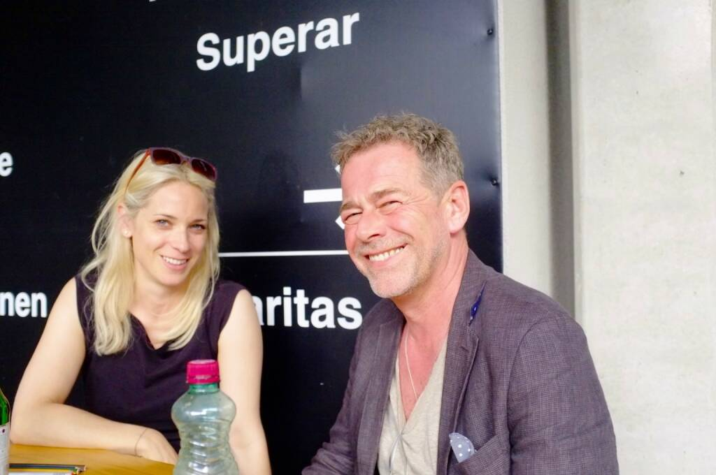 Verena Kaspar-Eisert (Kunst Haus Wien), Klaus Kehrer (Kehrer Verlag) (photo: Josef Chladek) (13.06.2016)