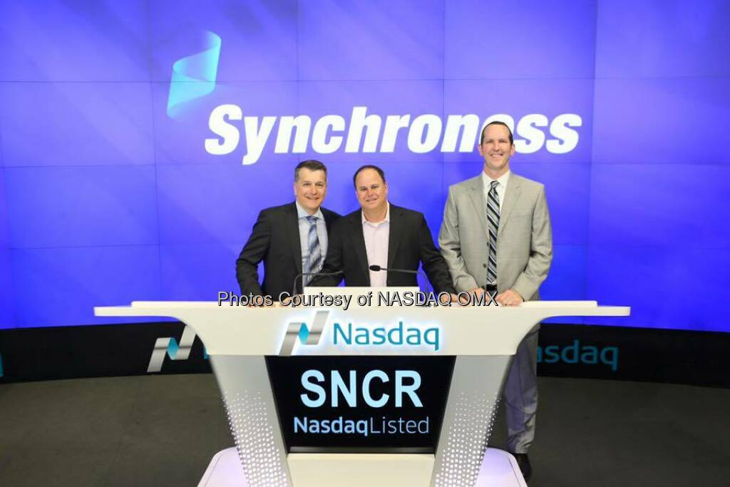 Synchronoss Technologies, Inc. rang the  Opening Bell, check out these great photos for this morning!   Source: http://facebook.com/NASDAQ (16.06.2016)