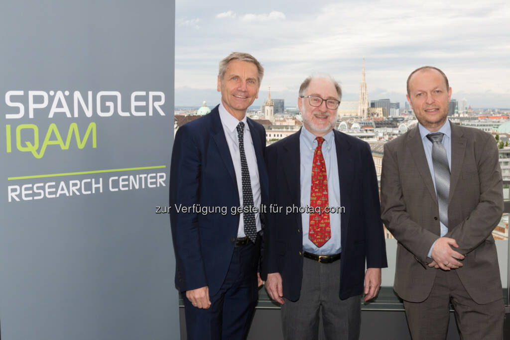 Josef Zechner (Spängler IQAM Research Center), Sheridan Titman (Professor an der der University of Texas in Austin), Thomas Dangl (Spängler IQAM Research Center) : Investment Talk : Steigende Aktienkurse haben die Tendenz weiter zu steigen : © Spängler IQAM Research Center, © Aussender (16.06.2016)