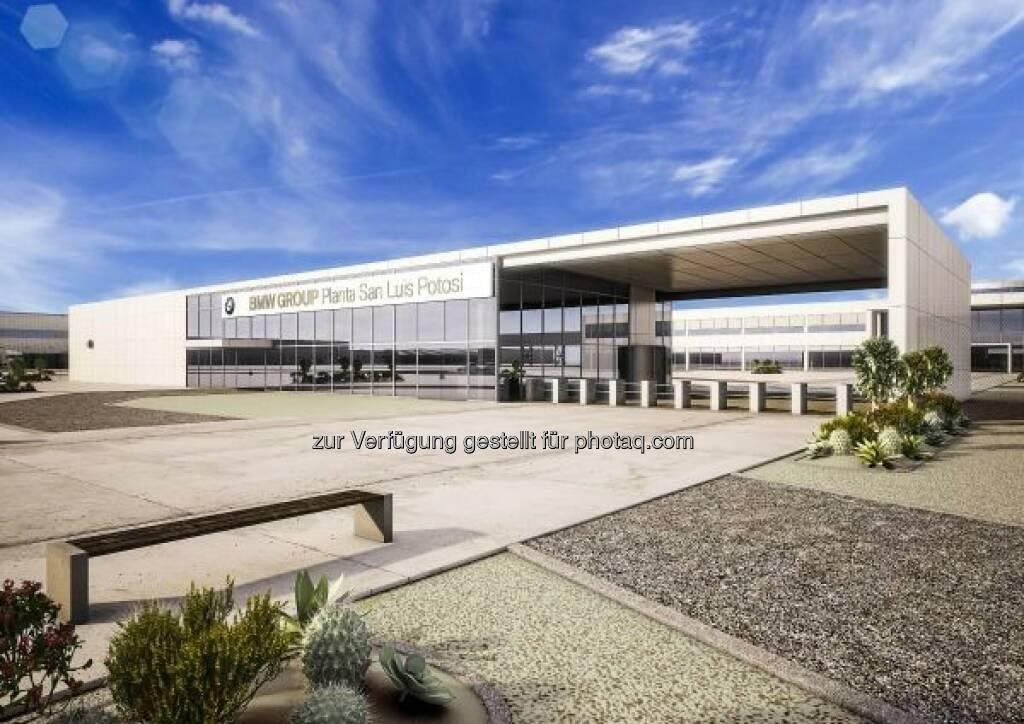BMW Group Werk San Luis Potosí, Visualisierung : BMW Group feiert Spatenstich für neues Werk in Mexiko : Fotocredit: BMW Group, © Aussendung (16.06.2016)