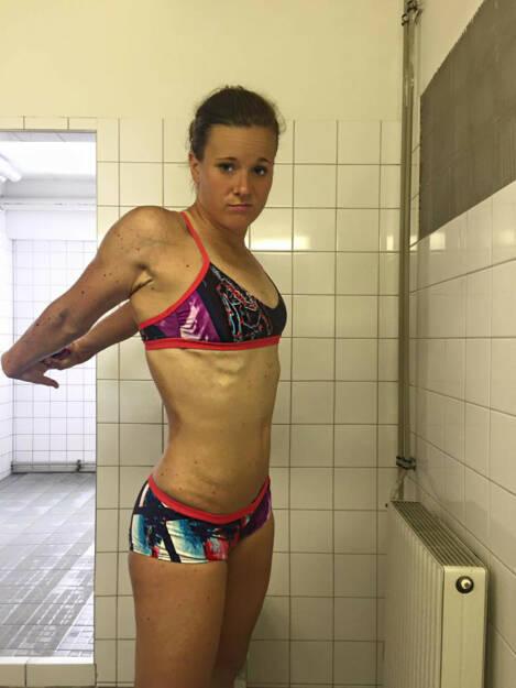 Tanja Stroschneider Dusche Aufwärmen, © Tanja Stroschneider (16.06.2016)