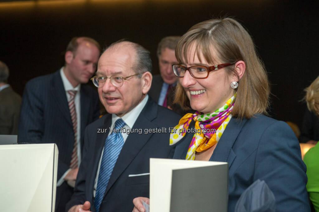 Michael Spiss, Beatrix Exinger - mehr Bilder vom 27. FCC unter http://www.wienerborse.at/service/events/financial-community-club-16042013.html, © FCC (18.04.2013)