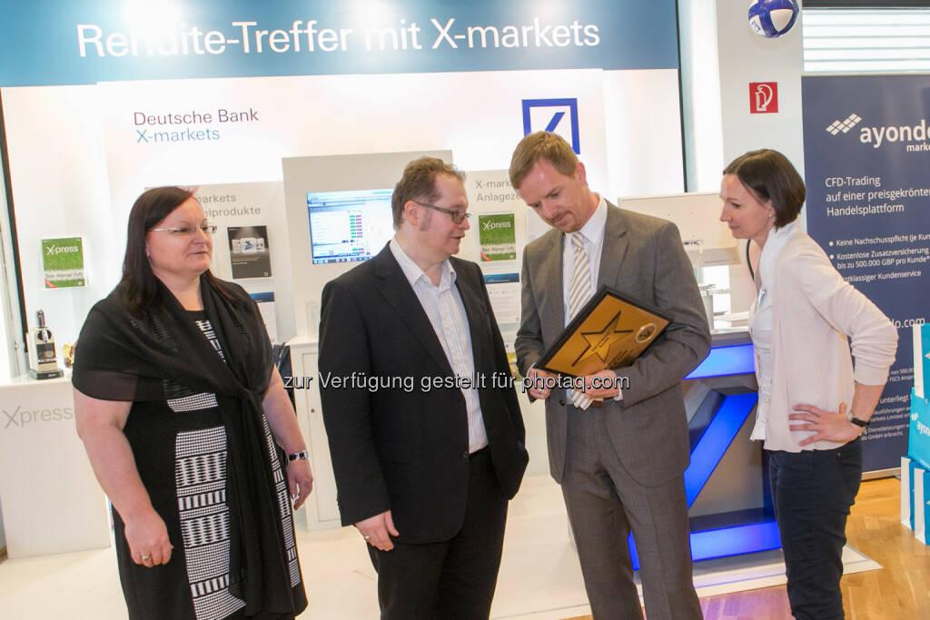 Yvette Rosinger (Rosinger Group), Gregor Rosinger (Rosinger Group), Christian Hendrik Knappe (Deutsche Bank), © Martina Draper/photaq (18.06.2016)