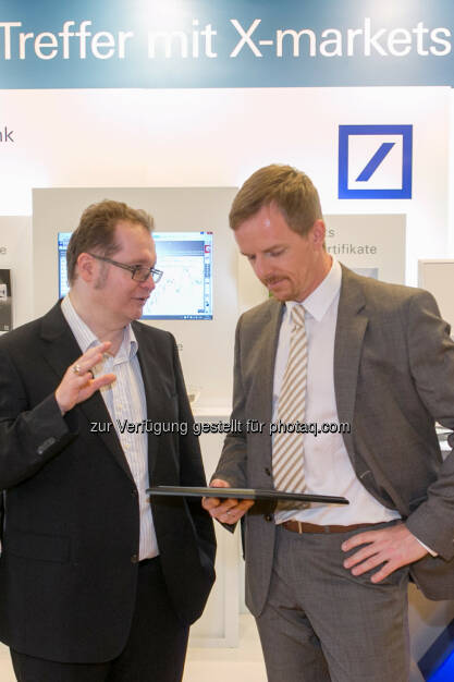 Gregor Rosinger (Rosinger Group), Christian Hendrik Knappe (Deutsche Bank), © Martina Draper/photaq (18.06.2016)