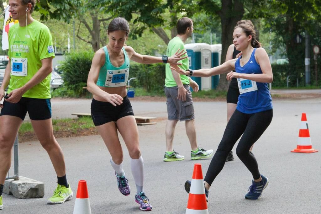 Wechsel Übergabe - Laufteam Haus Roshan beim 100-km-(Staffel-)Lauf in Wien (c) Andreas Ecker, © Diverse  (20.06.2016)