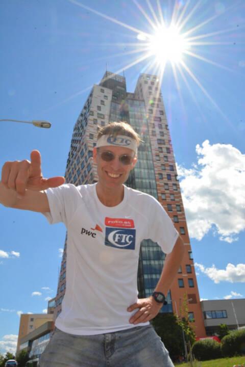 Rolf Majcen bei Towerrunning 200 Vienna-Brno-Bratislava